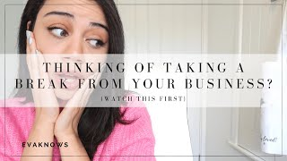 ONLINE BUSINESS FOR BEGINNERS IN 2020: THINKING OF TAKING A BREAK?... (WATCH THIS FIRST)