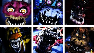 Five Nights at Freddy's 4: SECRET FOXY ANIMATRONICS ALL JUMPSCARES NIGHT 2 FNAF 4