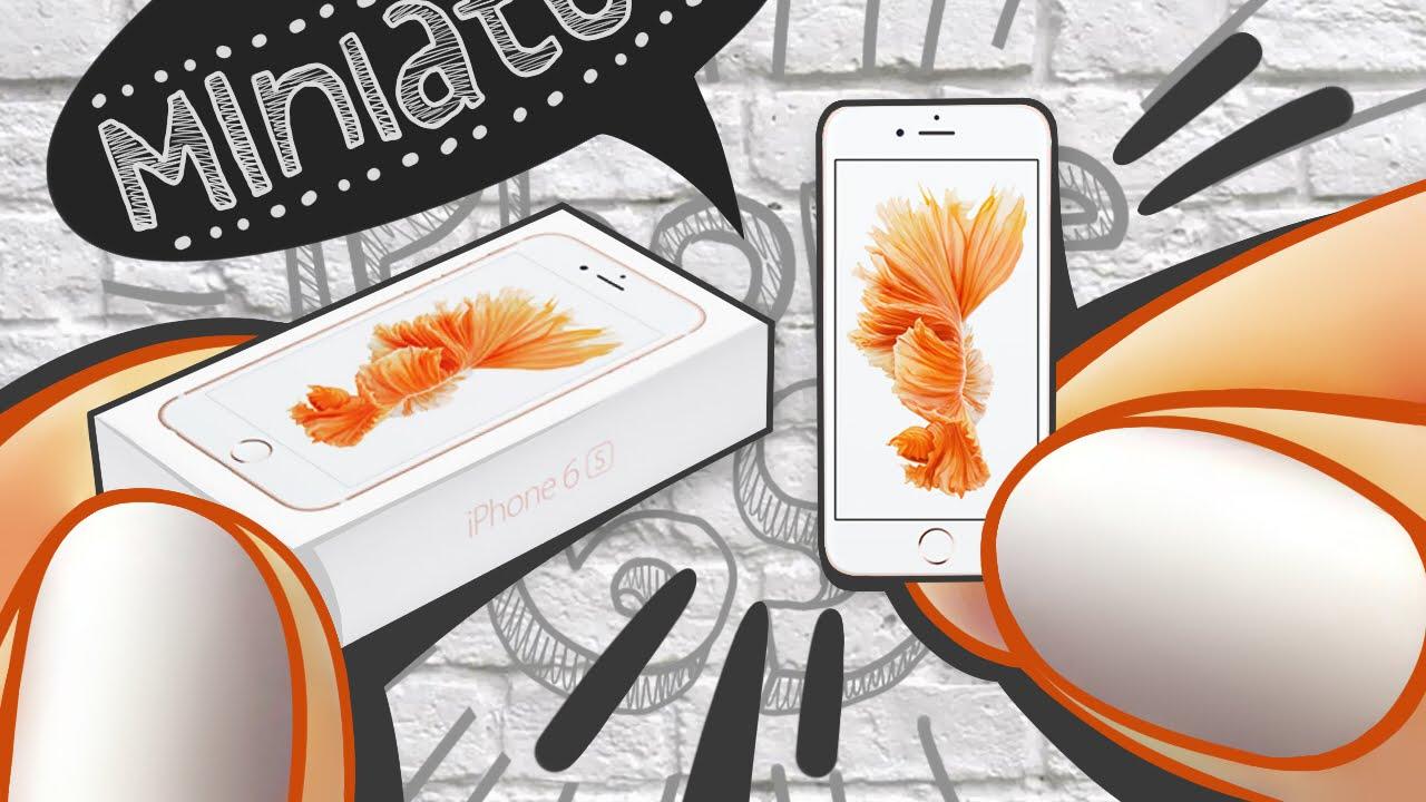 realistic miniature iphone 6s rose gold tutorial