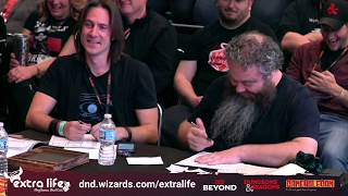 Chris Perkins, Matt Mercer, Patrick Rothfuss and Amy Vorphal Play D&D