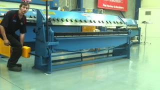 Steelmaster Manual Panbrake Folder Model: SM-MPB2502, 2500mm x 2mm Capacity