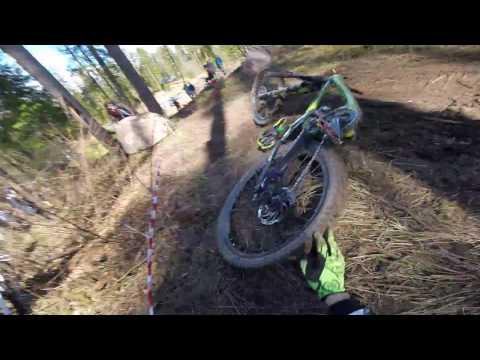 Downhill Crash Mezkalni Broken Frame 2017