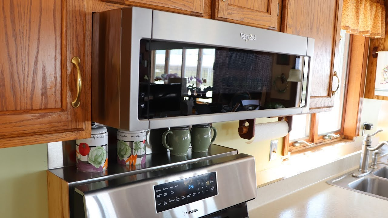 kitchen update part 5 installing the whirlpool microwave range hood update 6 19 dead at 15 months