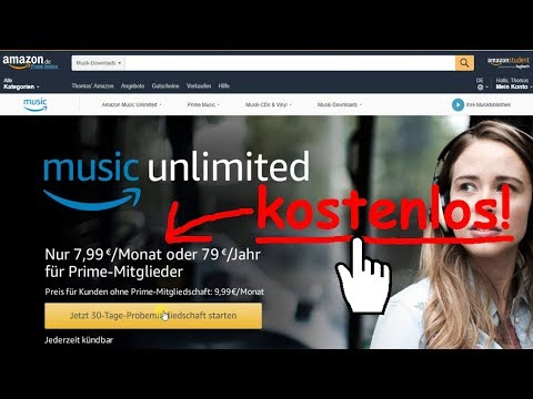 Begrenzte Zeit: Kostenlos Musik von Amazon Music Unlimited laden & speichern, offline, Tutorial