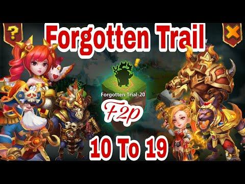 Forgotten Trial | F2p | Level 11-19 | No Strom/Sas/Athene/Asura/Granny/Cirrina | Castle Clash