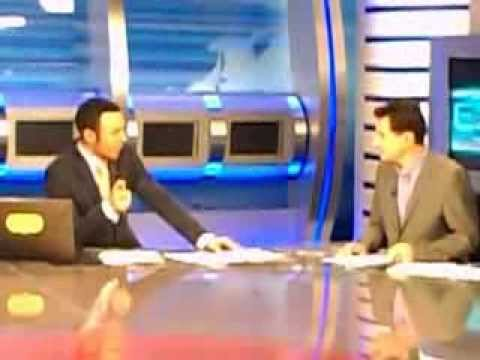 Backstage news at ERT3 channel in Thessaloniki....