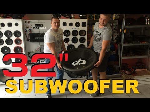 World's Biggest Subwoofer! Самый большой сабвуфер в мире! [eng Sub]