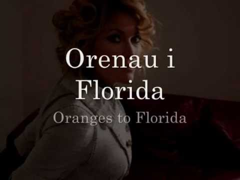 Orenau i Florida - Cerys Matthews (geiriau / lyrics)