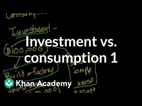 Investment vs. consumption 1 | Finance & Capital Markets | Khan Academy