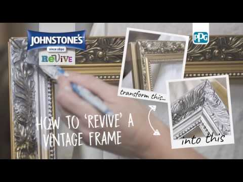 How To Revive a Vintage Frame with Johnstone's Metallic Paint - Silver | B&M Stores