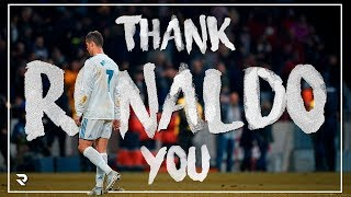 Thank you Cristiano, Goodbye Real Madrid!