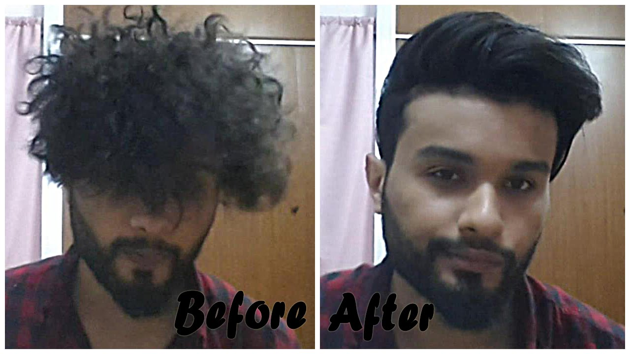 From Curly To Straight Hairstyle For Men