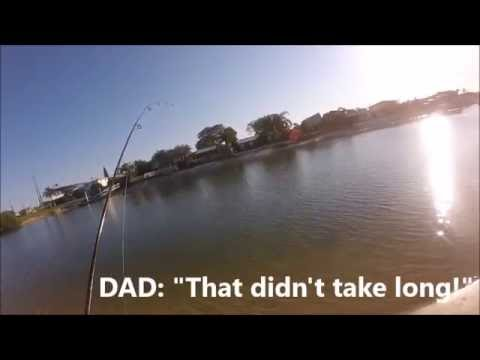 Eventful Afternoon Fishing Mooloolaba Canals- Rare Species, Beautiful Scenery, Good Fishing!