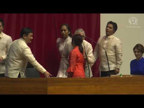 Gloria Macapagal-Arroyo takes oath as House Speaker