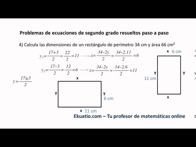 Problemas De Ecuaciones De Segundo Grado Resueltos Paso A Paso Youtube