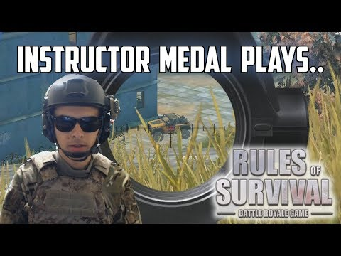 INSTRUCTOR MEDAL PLAYS! - Rules of Survival Livestream