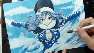Speed Drawing - Juvia Lockser (Fairy Tail)
