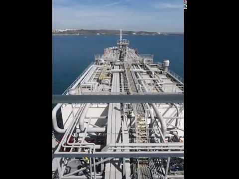 """Gaschem  Adriatic"" time lapse manoeuvring Sines"