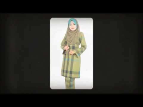 Fesyen baju kurung moden corak pelikat