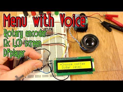 Menu with voice & rotary encoder - Arduino