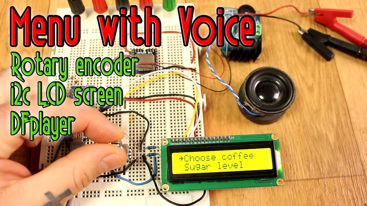Menu with voice & rotary encoder - Arduino