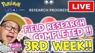 【Pokémon GO in NL】LIVE Field Research Breakthrough 3rd Week!! | TontonTrain