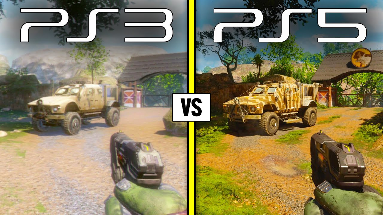 Call of Duty BLACK OPS 3 — PS3 vs PS5   Graphics Comparison