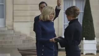 First Lady Melania Trump Joins Brigitte Macron for Armistice Day