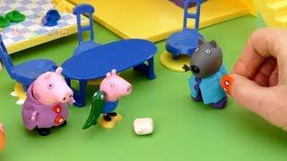 Мультфильм как Свинка Пеппа устроила пижамную вечеринку на русском бесплатно, новые серии для детей