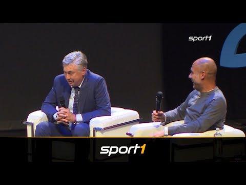 Pep Guardiola und Carlo Ancelotti scherzen über Bayern-Zeit | SPORT1