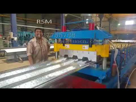 Floor decking roll forming machine to Jordan market