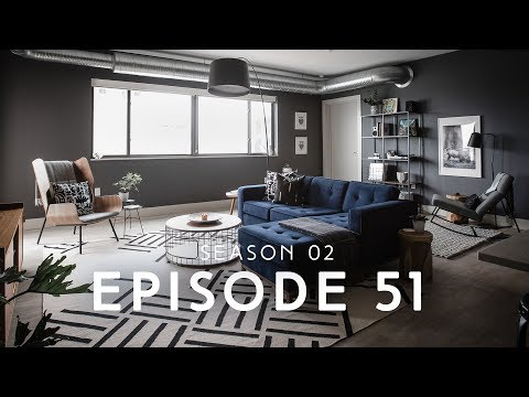 Ep 51 | Dark and Moody Apartment Living Room Tour