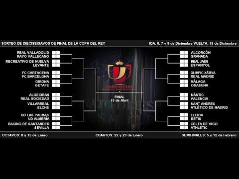 Sorteo de Dieciseisavos de Final de la Copa del Rey 2013-2014. - YouTube