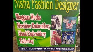 Nisha Fashion Designs workshop||Blouse designs||Maggam work||
