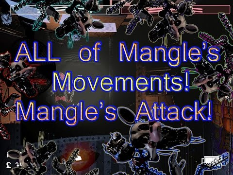 ALL of the Mangle's MOVEMENTS! Mangle's ATTACK!-Five Nights At Freddy's 2 Tracker