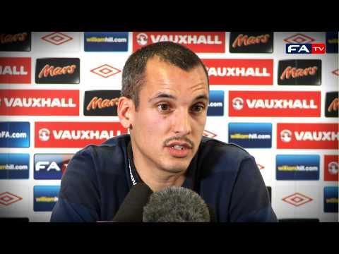Leon Osman press conference on England v Sweden | FATV