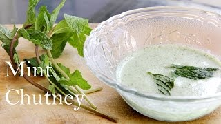 Mint (pudina) Chutney Recipe | Indian Yogurt Dip (mint Chutney) For Snacks Appetizers By Shilpi
