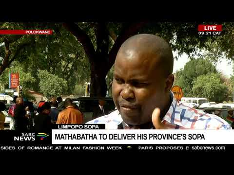 Limpopo SOPA | Mathabatha to deliver his province's SOPA