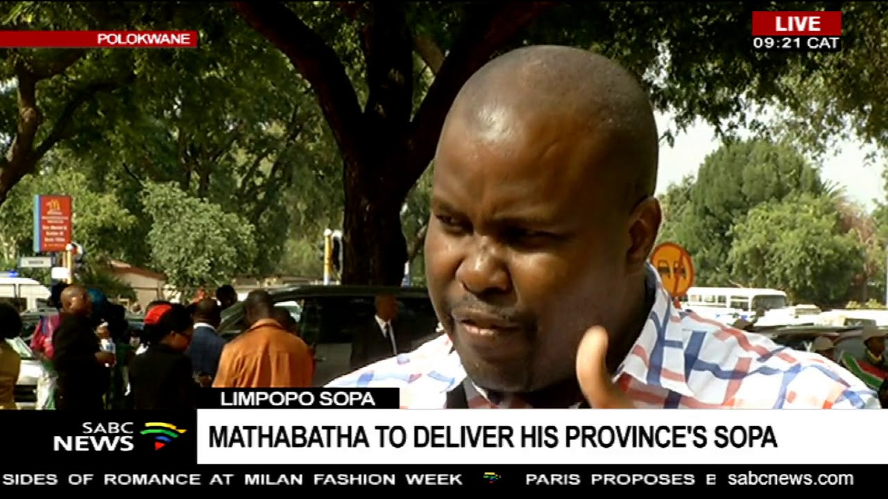 Limpopo Sopa Mathabatha To Deliver His Province S Sopa Youtube
