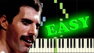 QUEEN - CRAZY LITTLE THING CALLED LOVE - Easy Piano Tutorial