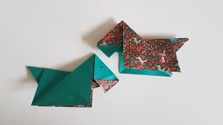 Süßer Origami Hund - Basteln mit Papier
