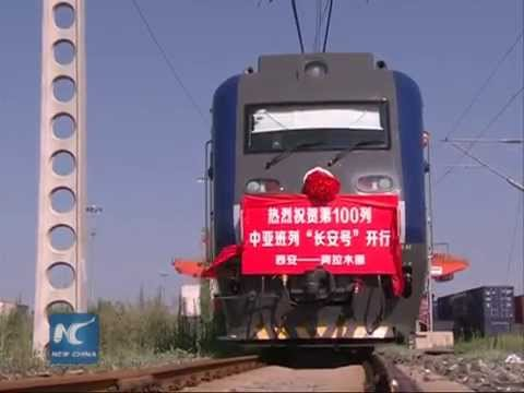 Transcontinental freight train line improves China-C Asia trade