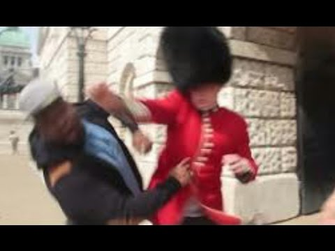 What happens when you mess with the Queens Guards-Royal Guards Get angry!