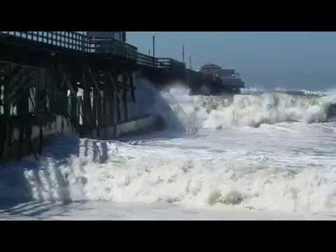 High surf at Seal Beach