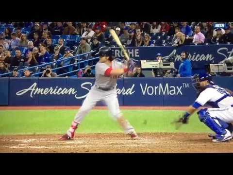 Andrew Benintendi Slow Motion Swing - RBI Double 4/18