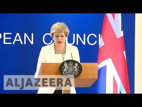 Brexit : UK's May meets EU leaders