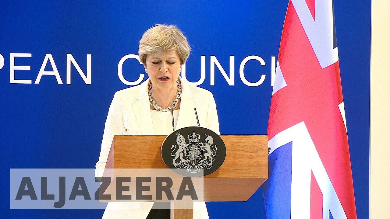 Brexit : UK's May meets EU leaders