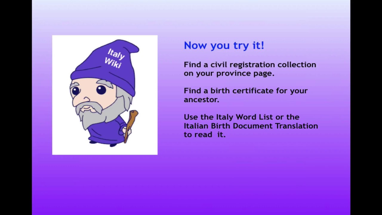 Familysearch research wiki wizard in italy part 5 finding a birth familysearch research wiki wizard in italy part 5 finding a birth certificate online aiddatafo Images