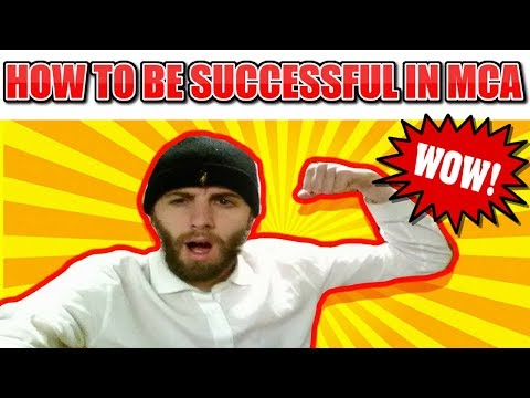 HOW TO BE SUCCESSFUL IN MCA with Alex Haney