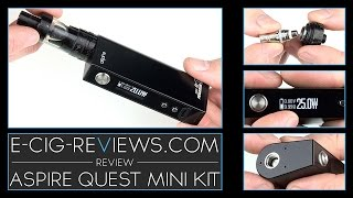 REVIEW OF THE ASPIRE QUEST MINI KIT(http://www.Vapour-Room.com - 15% Discount Code - ECR69 Visit the website - http://www.E-Cig-Reviews.com Visit the sister site - http://www., 2016-02-26T21:00:00.000Z)
